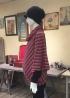 優雅垂墜斜紋造型孕婦上衣 1