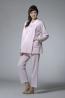 緹花針織綿小圓領長版哺乳睡衣套裝(上衣+調整式長褲) 1