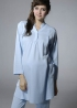立領半門襟長版哺乳睡衣 2