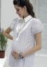 高雅襯衫領包袖孕婦上衣 2