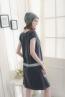 低中腰式口袋V領孕婦洋裝 3