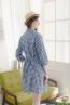 襯衫領反摺五分袖孕婦洋裝 3