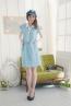 襯衫領格紋造型款孕婦洋裝 1