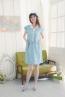 襯衫領格紋造型款孕婦洋裝 2