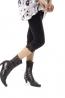 合身基本款 平口蕾絲彈性棉內褡 七分褲 1