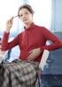 彈性亮纖和暖高領衫 1