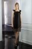 高級蠶絲荷葉袖八片裙洋裝 2