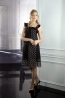 高級蠶絲荷葉袖八片裙洋裝 3