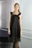 高級蠶絲荷葉袖八片裙洋裝 1