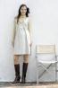 細絨彈性纖維摺景背心式洋裝 2