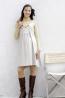 細絨彈性纖維摺景背心式洋裝 3