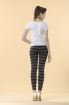 纖瘦條紋孕婦內搭長褲 3