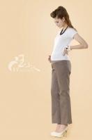暢銷款標準基礎型斜口袋式孕婦托腹長褲