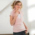 產後孕婦針織哺乳衣-夏天短袖上衣