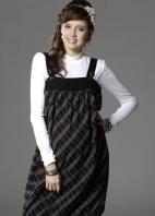 彈性棉格紋孕婦背心裙