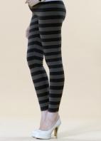 纖瘦條紋孕婦內搭長褲